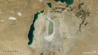 Link to Popular Story entitled: Shrinking Aral Sea
