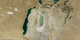 Animation of MODIS images show extent of Aral Sea from 2000 to 2013.
