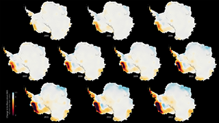 Link to Related Story entitled: Antarctic Ice Loss 2003-2013