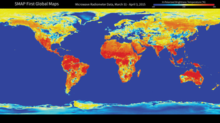 Link to Recent Story entitled: NASA Soil Moisture Mission Produces First Global Maps