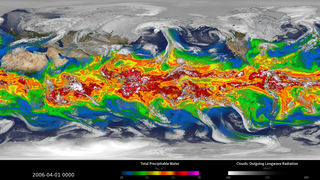 Link to Related Story entitled: Simulated Clouds and Precipitable Water