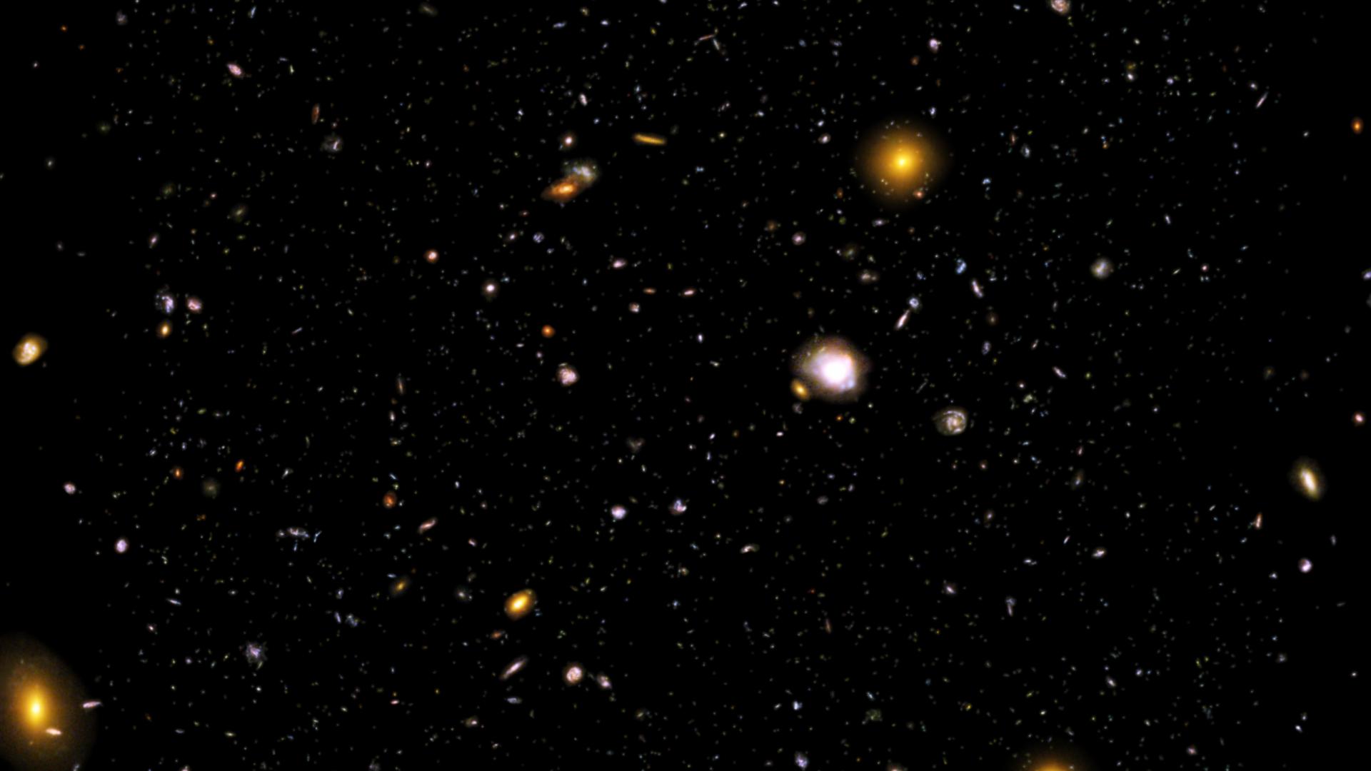 Hyperwall Across The Universe The Hubble Ultra Deep Field