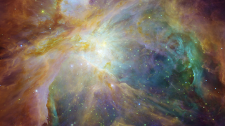 Link to Recent Story entitled: Hubble and Spitzer Composite of the Orion Nebula