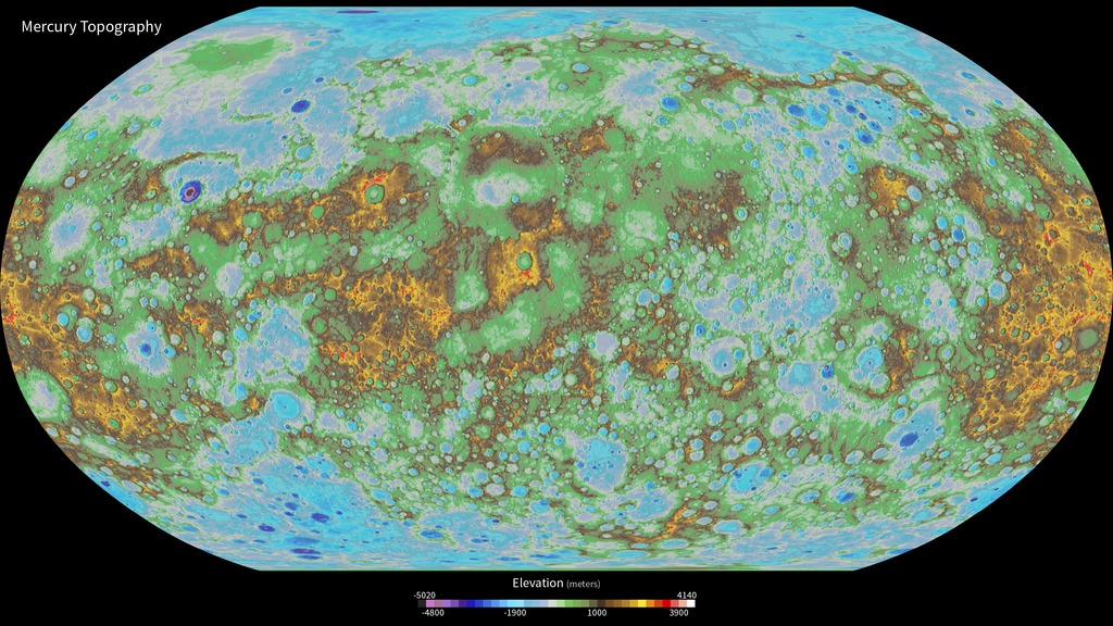 Hyperwall first global topographic model of mercury gumiabroncs Image collections