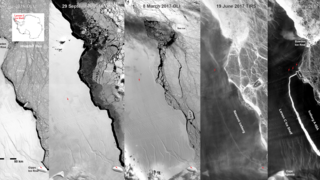 Link to Recent Story entitled: Landsat 'Sees in the Dark' the Evolution of Antarctica's Delaware-Sized Iceberg