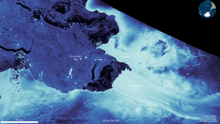 Link to Popular Story entitled: Pine Island Glacier Retreat, Antarctica