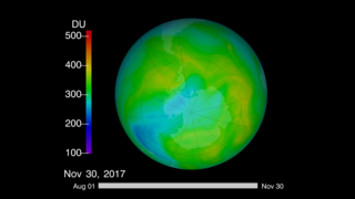 Link to Related Story entitled: Total Ozone and UV, 2017