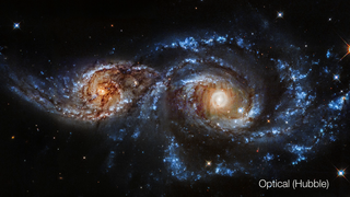 Link to Popular Story entitled: Colliding Galaxies (NGC 2207)