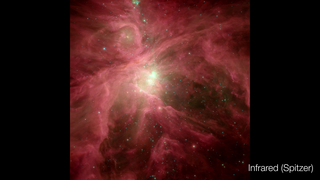 Link to Recent Story entitled: The Orion Nebula: Visible and Infrared Views