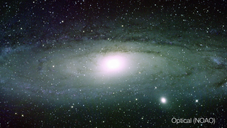 Link to Recent Story entitled: Andromeda Galaxy in Visible and Infrared